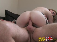 FakeAgentUK Sexy Fetish Girl with Great Tits Orgasms in Fake Casting