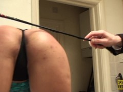 Throatfucked UK sub tiedup and spanked