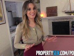 Propertysex - Extremely Hot Real Estate Agent Cheers Up Client