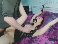 Teen hand tied gets fucked and creampied