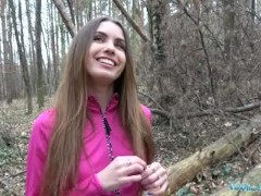 Public Agent Sexy jogger fucked in the woods