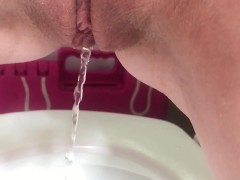 Golden Shower Slow Motion   See my pee clips at freckledred.manyvids.com