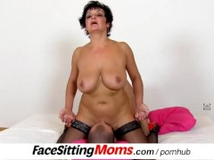 Muff diving games with Czech big tits cougar Greta