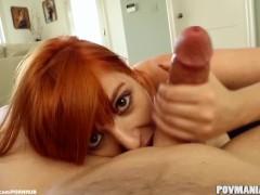 Busty Redhead Lauren Phillips Loves Sucking Cock