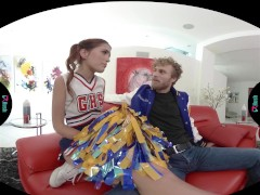 VRHUSH Cheerleader Fucking her Coach