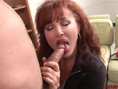 Slut Mom with Bigtits Fucks Horny Young Guy