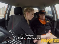 Fake Driving School Busty Blonde Georgie Lyall gets Customer Satisfaction