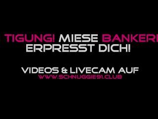 Nemecká blondínka si nakrúca sex live