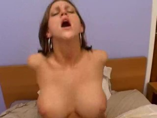 Busty Eve Lawrence Plays On Dick!