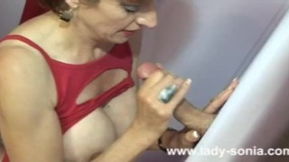 Amateur Lady Sonia gloryhole cumshot  red haired big tits lingerie british babe sexy blowjob naked gloryhole cumshot cock busty milf fuck sex naughty fake tits nude huge tits