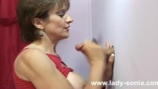 Amateur Lady Sonia gloryhole cumshot  red haired big tits lingerie british babe sexy blowjob naked gloryhole cumshot cock naughty busty milf fuck sex nude fake tits huge tits