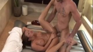 Mia Leilani Gives A Full Service Nuru Massage  big tits sclip asian blowjob pornstar cumshot big dick massage bathroom handjob brunette ff fake tits female friendly