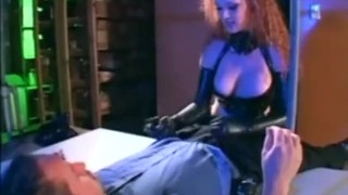 Audrey Hollander in a cop uniform and latex molesting a guy  gloves uniform cop latex lingerie videos.com freckles red head police officer sclip redhead fetish