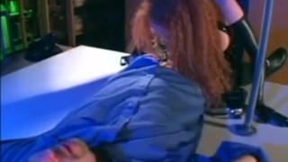 Audrey Hollander in a cop uniform and latex molesting a guy  gloves uniform cop latex lingerie videos.com red head police officer sclip freckles redhead fetish