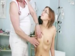 Gyno Gives Her An Exam With His Tool