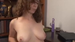 Screaming Sammy gushes hairy pussy juice  dildo toys wearehairy.com masturbation wet squirting hclip hairy vibrator brunette orgasm natural tits fetish