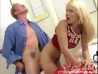 Blonde cheerleader, Kylee gets fucked by the horny dean