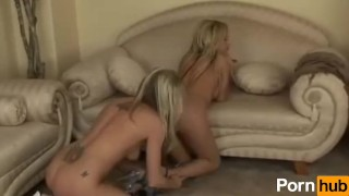 Two HOT chicks licking each other