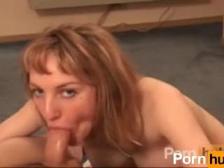 Hot Kat gives amateur blowjob