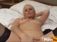 Zenovia was so horny, she took her panties off and rubbs her pussy with th