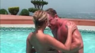 Jazzmine - The Pool Party - Scene 4 outdoor drunk hardcore pool asian big tits blonde blowjob party
