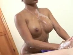 Soapy massage with happy ending