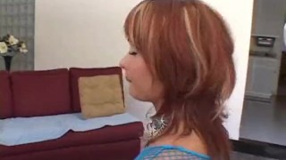 Kinky Neighbor tied up and fucked  big ass ass spanking dildo fishnet blowjob fetish big dick toys curvy german gagging tight fingering deepthroat bondage anal face fuck slave red head