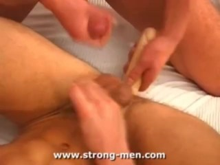 Guys Playing with Dildo