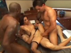 Asian Jayna Oso gets owned by three cocks