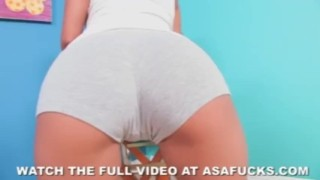 Asa Akira Masturbates Wearing Leg Warmers sclip ass dildo lingerie masturbation akira asian big tits bubble butt solo fingering asa pornstar tattoo japanese anal fingering asafucks.com orgasm skinny
