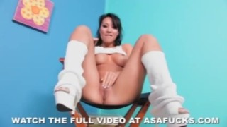 Asa Akira Masturbates Wearing Leg Warmers sclip ass dildo lingerie masturbation akira asian big-tits bubble-butt solo fingering asa pornstar tattoo japanese anal-fingering asafucks-com orgasm skinny