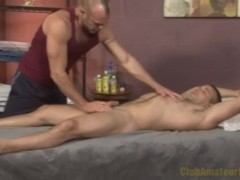 Hairy muslce gets rubbed and sucked
