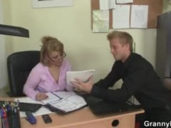 Office lady gives head and gets nailed at the table