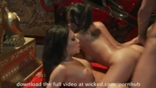 Asians babes Asa and Kaylani are the best fuck he's ever had.  babe big-tits singaporean asian blowjob ffm pornstar threesomes tattoo skinny busty japanese wicked.com wclip