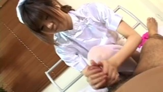 Horny Japanese nurse giving a hot handjob  foot job sclip nurse asian pov fetish cum handjob japanese avidolz.com footjob feet japan teenager cumhsot hand job