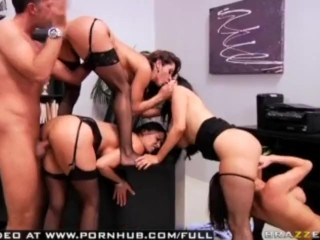 BIG TIT CHEATING SLUT MILF'S DO MASSIVE ORGY WITH BOSS FOR THERE