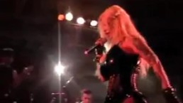 Sabrina Sabrok celeb Punk Singer with biggest breast, live show