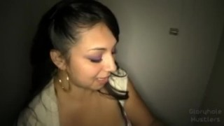 Gloryhole Hustlers Eva Swallows P2  swallow blow job eva homemade cumshot blowjob gloryhole