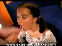 Young HOT brunette Creampied and getting Facials!
