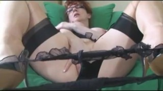 Super Hot Office Milf Fucks Her Pussy  milf mother mature fingering housewife big boobs stockingaces.com big tits sclip mom redheads busty