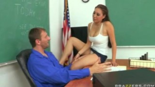 BIG TIT ASIAN SCHOOLGIRL 69 & FUCKS BROTHER'S TEACHER DOGGY STYLE bclip caught asian deep-throat blowjob big-cock teacher big-tits big tit big boob school brunette orgasm brazzers