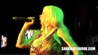 Preview 1 of Sabrina Sabrok Celeb biggest boobs fetish sadomasochism live show