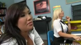 HOT BIG TIT ASIAN COLLEGE SCHOOL GIRLS THREESOME FUCK WITH TEACHE  college asian brazzers young 18 japanese school daughter bclip tight uniform orgasm teenager big tit deep throat