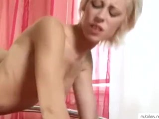 Skinny blonde doggystyle finger and fuck