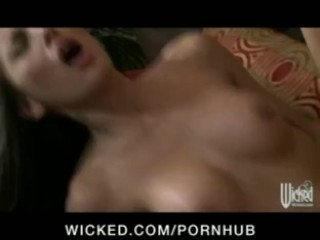 Young hot brunette college student fucks her BF before studying