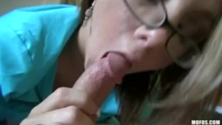 Preview 3 of Hot & Horny BIG TIT blonde girlfriend fucks BF's dick before work