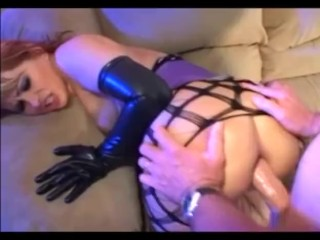 Anal and atm in fencenet pantyhose boots a corset and gloves