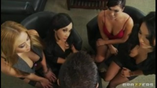 Four Hot Busty Asian Sluts in HOT orgy fuck boss' big-dick in office bclip orgy deep throat boss work asian office uniform japanese big tit orgasm gang bang brazzers busty group
