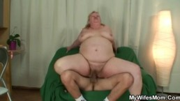 Wife comes in when her huge mom rides my cock