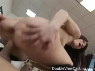 Stunning redhead enjoys anal hammering